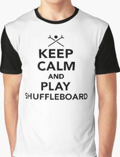 Keep calm and play Shuffleboard Graphic T-Shirt