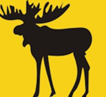 Moose Xing Sticker