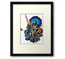 starwars video game mashup Framed Print