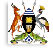 Coat of Arms of Uganda Canvas Print