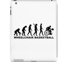 Evolution wheelchair basketball iPad Case/Skin