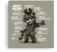 AIRSOFT ANATOMY (white writing) Canvas Print