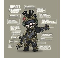 AIRSOFT ANATOMY (white writing) Photographic Print