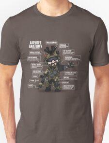 AIRSOFT ANATOMY (white writing) Unisex T-Shirt