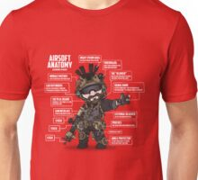 AIRSOFT ANATOMY (white writing) Unisex T-Shirt