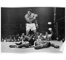 Muhammad Ali KOs Sonny Liston Poster