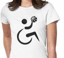 Wheelchair basketball Womens Fitted T-Shirt