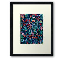 Tropical Ink - a watercolor garden Framed Print