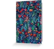 Tropical Ink - a watercolor garden Greeting Card