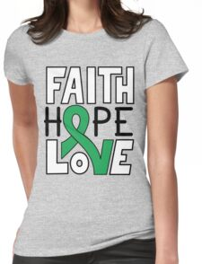 Faith Hope Love - Gallbladder/Bile Duct Cancer Awareness Womens Fitted T-Shirt