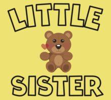 Teddy Bear Little Sister Kids Tee