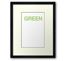 Green is the new black Framed Print