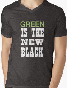 Green is the new black Mens V-Neck T-Shirt