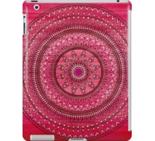 Hand Drawn Intricate Deep Red And White Mandala iPad Case/Skin