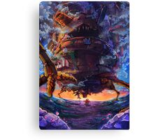 Sunset on Howl's Moving Castle  Canvas Print