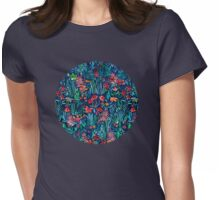 Tropical Ink - a watercolor garden Womens Fitted T-Shirt