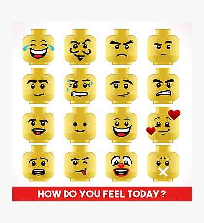 Toy Block Emoji Games Isometric Photographic Print