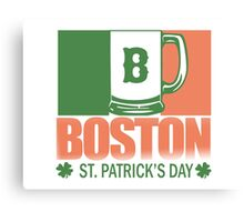 Boston - St. Patrick's Day Canvas Print