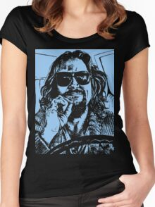 Big Lebowski Blue 1 Women's Fitted Scoop T-Shirt