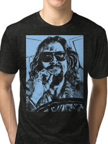 Big Lebowski Blue 1 Tri-blend T-Shirt