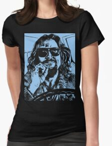 Big Lebowski Blue 1 Womens Fitted T-Shirt