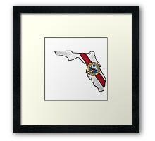 Florida flag shape outline Framed Print