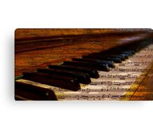 Piano and music Canvas Print
