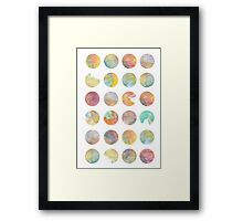 Colored World Framed Print