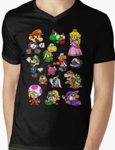 Paper Mario Collection Mens V-Neck T-Shirt