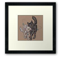 Atomic Dance with Wolves Framed Print