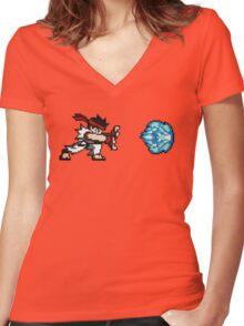 Streetfighter - HADOUKEN ! Women's Fitted V-Neck T-Shirt