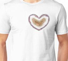Citrine Geode Heart Unisex T-Shirt