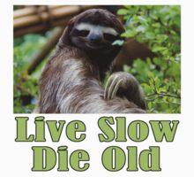 Mr. Sloth Says - Live Slow, Die Old Baby Tee