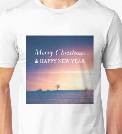 Postcard Winter Landscape I Unisex T-Shirt