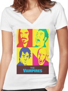 what we do in the shadows the vampires Women's Fitted V-Neck T-Shirt
