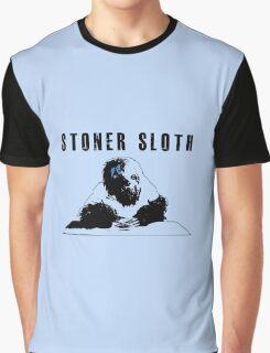 Stoner Sloth monochrome Graphic T-Shirt