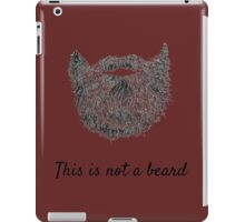 This is not a beard iPad Case/Skin