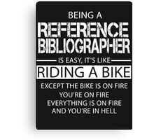Reference Bibliographer Canvas Print