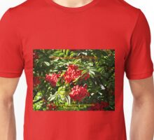 Red Rowan Berries Christmas Card Unisex T-Shirt