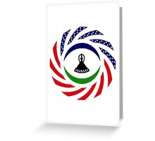 Mosotho American Multinational Patriot Flag Series Greeting Card