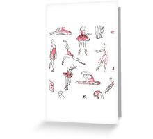 ballerina standing in a pose seamless pattern Greeting Card