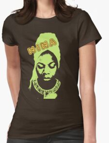 Nina Simone Green Womens Fitted T-Shirt