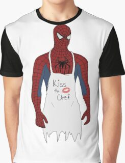 Kiss the Spidey Chef Graphic T-Shirt