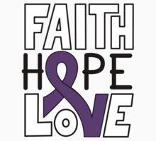 Faith Hope Love - Leiomyosarcoma Awareness One Piece - Short Sleeve