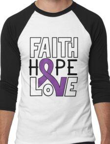 Faith Hope Love - Leiomyosarcoma Awareness Men's Baseball ¾ T-Shirt