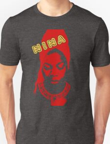 Nina Simone Red Unisex T-Shirt