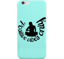 Blue printed designer I-phone device – case by Marijke Verkerk Design iPhone Case/Skin