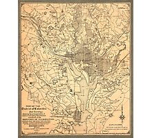 Map of the District of Columbia (1892) Photographic Print