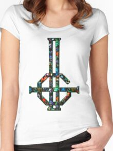 2015 LOGO - concert photo collage (small) Women's Fitted Scoop T-Shirt