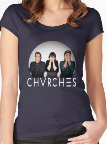 Chvrches band Women's Fitted Scoop T-Shirt